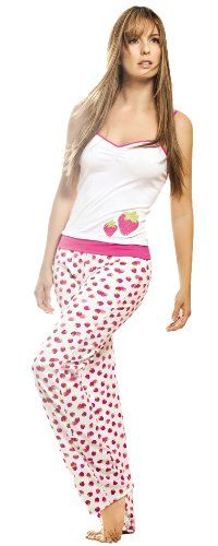 8fc1abeca Adriana Arango Women s Pajama High Quality Strawberry Top Pant Set 7477 Pajama  Set