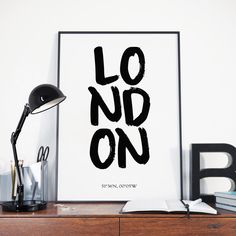 London England Capital Poster London Print Instant Download Great Britain Tower of London Home Decor Wall Art Printable Poster