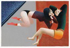 MAGDA VACARIU: LORENZO MATTOTTI Love Painting, Figure Painting, Fauvism Art, Graphic Prints, Graphic Art, Lorenzo Mattotti, Lovers And Friends, Historical Art, Italian Art