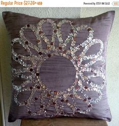 15% HOLIDAY SALE Handmade  Purple Pillow Cases by TheHomeCentric