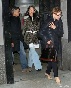 George Clooney Brings Amal and Mom Nina to His Favorite NYC Italian Restaurant—Guess Who Avoided Carbs? George Clooney Amal Alamuddin, Nyc March, Manhattan Restaurants, Make Time, Bring It On, Mom, Stylish, Celebrities, Womens Fashion