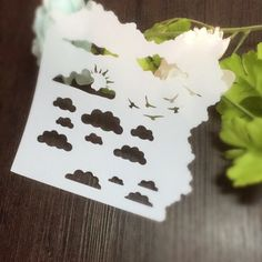 Cloud Sun Seagulls Scrapbooking tool card DIY album masking spray painted template drawing stencils laser cut template AP7072301-in Stamps from Office & School Supplies on Aliexpress.com | Alibaba Group