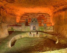 Underground hideout in Paris catacombs