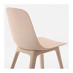 IKEA - ODGER, Krzesło, Wygodne do siedzenia dzięki łukowato wygiętemu siedzisku i zaokrąglonemu oparciu.