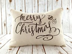 Christmas Pillow - Merry Christmas Pillow Cover - Christmas Decor - Decorative Throw Pillow Cover