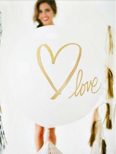 "Tassel with 36"" Balloon: Signature Heart by dropitMODERN on Etsy https://www.etsy.com/listing/203107443/tassel-with-36-balloon-signature-heart"