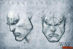 Darksiders War head study concept art