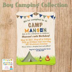 Camping invitation Camping Invite Camping Party Campfire Sleep