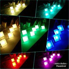 Custom made  RGB  spot lights .