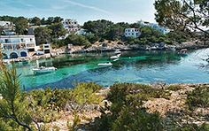 Take a look at Portinatx. This is a resort on the island of Ibiza. It is located 40 minutes from the island airport in the municipality of Sant Joan de Labritja and is the most northern resort on the island.