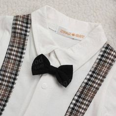 Baby Bowknot Gentleman Romper Boy Kids Jumpsuit Clothing Set - US$15.65