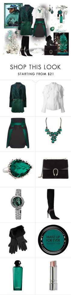 """""""stylish winter"""" by lumi-21 ❤ liked on Polyvore featuring Drome, Alexander McQueen, Antonio Berardi, Anzie, Gucci, bürgi, Yves Saint Laurent, DEMI, MAKE UP FOR EVER and Hermès"""
