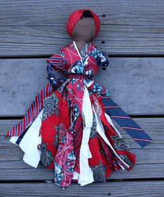 necktie rag dolls - 'Ties That Matter' made at sewing co-op in la Gonave, Haiti