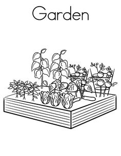 Peaceful ideas gardening coloring pages garden page twisty noodle free for preschool printable . valuable ideas gardening coloring pages Garden Coloring Pages, Vegetable Coloring Pages, Coloring Pages For Boys, Flower Coloring Pages, Coloring Books, Coloring Worksheets, Colouring, Colorful Garden, Colorful Flowers