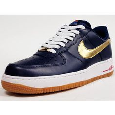 """NIKE AIR FORCE I 07 """"LIMITED EDITION for ICONS"""" NVY/GLD/WHT/RED/GUM"""