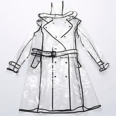 New-Transparent-Vinyl-Raincoat-Runway-Style-Women-Girls-Clear-Fashion-Rain-Coat