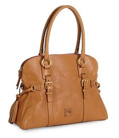 Dooney & Bourke Florentine Domed Buckle Satchel Handbag in Natural $398.00