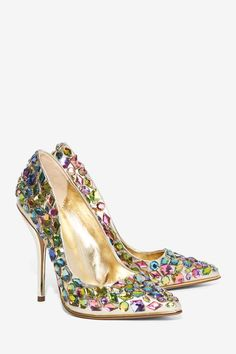 Privileged Ruiz Jeweled Heel - Gold - Shoes | Heels | Party Shoes | All Party                                                                                                                                                                                 More