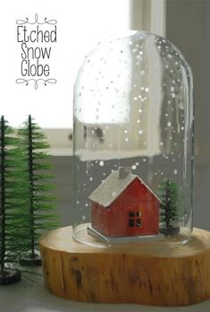 DIY Etched Glass Sno
