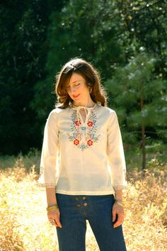 Boho Shirt... Embroidered Blouse... Eastern by AstralBoutique, $28.00