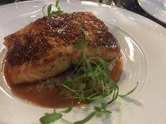 Grain Mustard Coated Salmon at Azure Restaurant for Winterlicious Menu in Toronto Mustard, Toronto, Salmon, Restaurants, Menu, Food, Mustard Plant, Diners, Menu Board Design