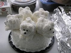 bichon frise cake