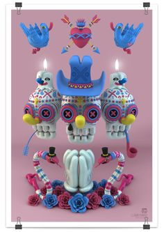 Really fun Dia De Los Muertos work from Grand Chamaco. Check out his other stuff. Right Now.