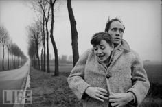 "Audrey Hepburn and Mel Ferrer in Paris, 1956  The actors captivated each other at a party hosted by Gregory Peck — he later sent her a script to star opposite him in the play ""Ondine."" Rehearsals started in January 1954; by September they were married. Their union lasted 14 years, and produced one son."