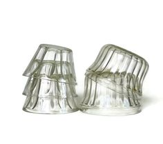 Vintage Ribbed Jelly Cups Jell-Well and Hazel Atlas on Etsy, $12.00