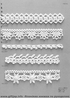 62. Crochet Lace Trim Edging - diagram avail; pinned on this board just matched the numbers.