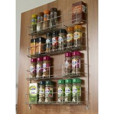 4-tier door mounted spice rack