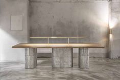 Etcetra project : Jeonghwa Seo Table Desk, Table Furniture, Dining Bench, Table Lamp, Restaurant Interior Design, Cafe Interior, Cafe Restaurant, Building Materials, Bedroom Decor