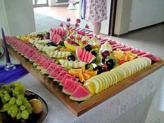Fruit Buffet food fruit grapes watermelon healthy food images food pictures buffet mangos party foods party favors party ideas Rockwell Catering and Events Party Platters, Party Trays, Food Platters, Cheese Platters, Cheese Table, Fruit Party, Snacks Für Party, Fruit Snacks, Party Appetizers