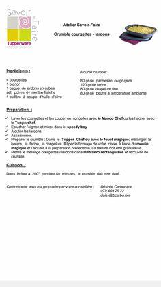 Crumble courgettes lardons Food And Drink, Robots, Salty Tart, Olive Oil, Robotics, Robot