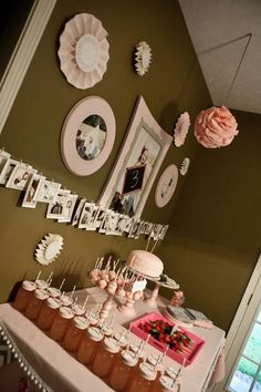 Vintage pink birthday - like the clothesline pictures