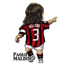Football Icon, Football Soccer, Football Players, Ac Milan Kit, Mac Club, Messi, Paolo Maldini, Soccer Art, Funny Caricatures