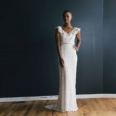Sweet, simple, timeless... {image by @heredwelling // makeup by @hannahconardbeauty} #lace