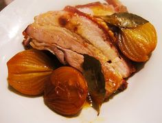 Crispy Honey Roast Pork Belly with Onions (Marco Pierre White-adapted)