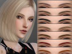 The Sims 4 Bobur Eyebrows 16 Sims 4 Cc Eyes, Sims 4 Cc Skin, Sims Cc, The Sims 4 Pc, Sims Four, Sims 4 Cas Mods, Sims 4 Black Hair, Pelo Sims, Sims 4 Cc Makeup