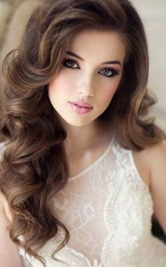 50 Ravishingly Cute Hairstyles For Long Faces Long Face Hairstyles, Bride Hairstyles, Cute Hairstyles, Amazing Hairstyles, Brunette Beauty, Hair Beauty, Blonde Brunette, Beauty Makeup, Wedding Makeup Looks