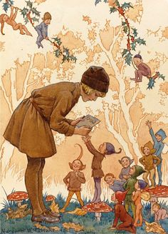 Margaret W. Tarrant The Brownie & Christmast Card