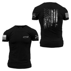 1776 Flag T-Shirt- Grunt Style Men's Tagless Tee Shirt – Star Spangled 1776 Grunt Style Shirts, Shirt Style, Cool Shirts, Tee Shirts, Usa Shirt, Mens Fashion, Mens Tops, Spun Cotton, Star Spangled