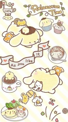 cute wallpapers for mobile with Sanrio characters, Hello Kitty, My Melody, and Gudetama among others! Doodles Kawaii, Chibi Kawaii, Cute Chibi, Kawaii Art, Kawaii Anime, Sanrio Wallpaper, Hello Kitty Wallpaper, Kawaii Wallpaper, Wallpaper Iphone Cute