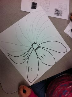 Georgia O'Keefe flowers for 2nd grade  Tips for Kids to Draw BIG   Tell them the flower fell right off the paper!  This was such a cute suggestion!      Students MUST touch all 4 sides of the paper with their object      Give several examples and non examples of what is the right size and what isn't      Give students many different examples of TYPES of flowers to ensure variety      Review the word OVERLAPPING and talk about how petals overlap