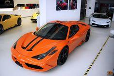 Welcome to a Bright Orange Ferrari 458 Speciale A! Ferrari 458, Maserati, Bugatti, Lamborghini, Orange Ferrari, Orange Cars, Car Colors, Koenigsegg, Car Manufacturers