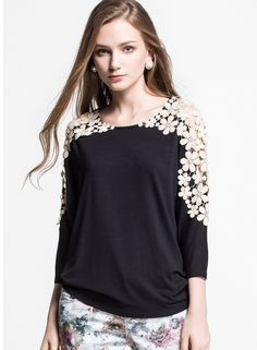 Shop Black Long Sleeve Hollow Lace Casual T-shirt online. Sheinside offers Black Long Sleeve Hollow Lace Casual T-shirt & more to fit your fashionable needs. Free Shipping Worldwide!