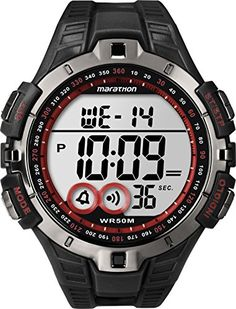 Marathon Digital Full-Size Watch - Gunmetal/RedFeatures: Water resistant to 50 meters Durable Resin strap Durable and Lightweight Resin Case Heart Rate #NONE Dis...