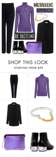 """""""Cover story: Metallic Effect"""" by ifchic ❤ liked on Polyvore featuring Tanya Taylor, Carven, IRO, Giles & Brother, Mohzy and McQ by Alexander McQueen"""