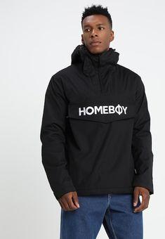 Homeboy ESKIMO BROTHER JACKET - Windbreaker - black - Zalando.at Rain Jacket, Brother, Windbreaker, Hoodies, Sweaters, Black, Fashion, Jackets, Moda