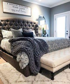 ✔ 38 Attractive Bedroom Furniture Master Head Boards for Cozy Bedroom Ideas Cozy Bedroom, Home Decor Bedroom, Bedroom Furniture, Master Bedroom Decorating Ideas, Trendy Bedroom, Fall Bedroom, King Bedroom Sets, Budget Bedroom, Grey Home Decor